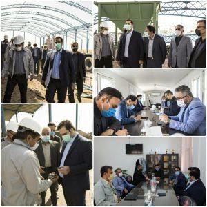 حضور مدیرعامل فولاد خراسان در شهرک صنعتی عطار نیشابور و بازدید از شرکت های همکار