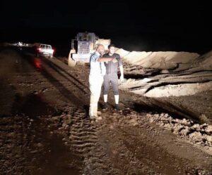 عملیات امدادی گلگهر در رفع آبگرفتگی معابر روستایی