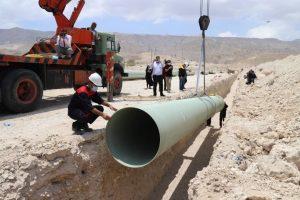 آغاز عملیات لولهگذاری طرح انتقال آب خلیج فارس به منطقه ویژه اقتصادی لامرد