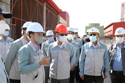 بازدید مدیرعامل شرکت فولاد مبارکه از فولاد سفید دشت چهارمحال و بختیاری